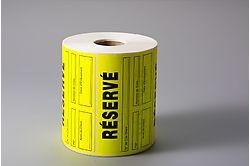 Etiquettes adhésives - Pastilles pré-imprimées