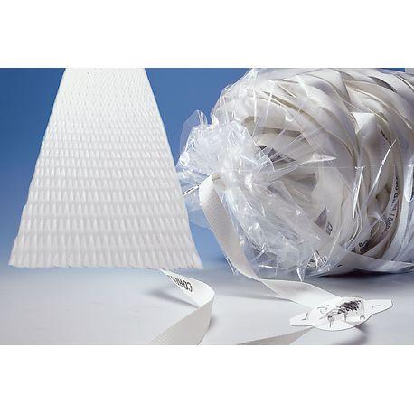 Feuillards textiles tissés et collés à froid